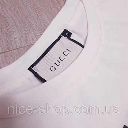 Футболка женская Gucci белая,тигр принт, фото 2