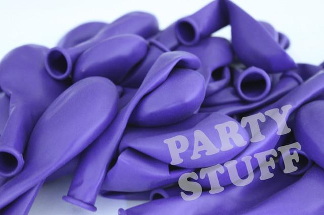 латексные фиолетовые шары