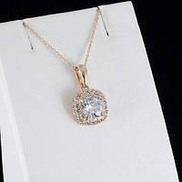 Превосходный кулон с кристаллами Swarovski + цепочка, покрытые золотом 0865