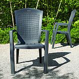 Крісло-стілець MINNESOTA графіт (Allibert), фото 3