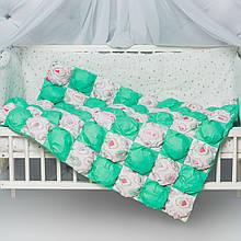 """Детское воздушное одеяло-коврик Бом-Бон с принтом  """"Пирожные с мятой """""""