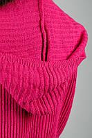 Кофта женская вязаная, короткая №166KF119 (Малиновый)