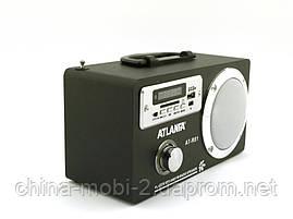Акустика Atlanfa AT-R81 з FM і MP3, чорна, фото 3