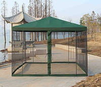 Садовый павильон 3х3 м с москитной сеткой