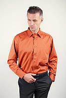 Рубашка классическая терракотовая Fra №878-7 (Терракотовый)