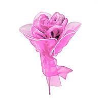 Роза на проволоке светло-розовая