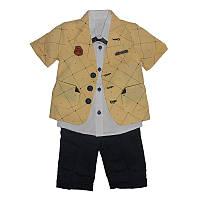 Костюм для мальчика  2-5р(92-110)  2106 пиджак, рубашка и шортики