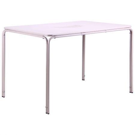 Металлический стол Бурбонне hy-t123 сталь сетка pm-019 светло серый 7502, TM AMF