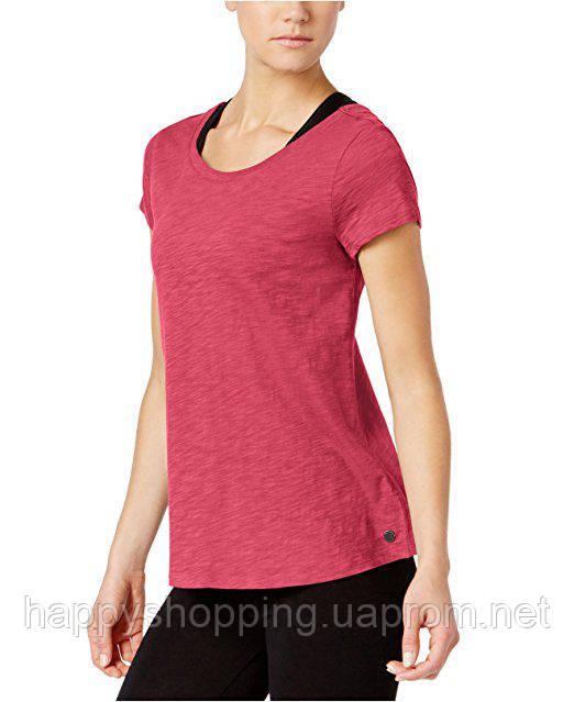 Женская розовая хлопковая футболка Calvin Klein