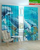 Фотошторы дельфины под водой