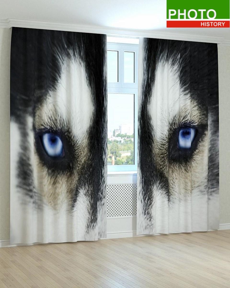 Фотошторы глаза волка