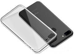Силіконовий чохол на Premium Iphone 7+ 8+ Plus Сірий прозорий