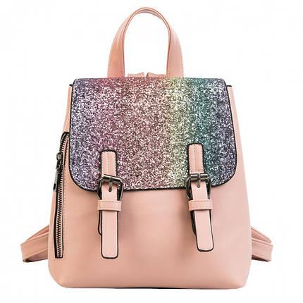 Рюкзак женский с пайетками Amelie Pink, фото 2