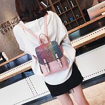 Рюкзак женский с пайетками Amelie Pink, фото 3