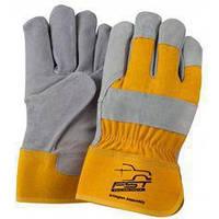 """Замшевые рабочие перчатки усилинные кожей """"Замш Усиленный"""""""
