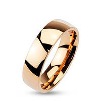Обручальное кольцо из ювелирной стали, цвет розовое золото 316L Spikes Spikes, 15.75