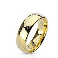 Кольцо властелин колец нержавеющая сталь 316L Spikes (США) 15.75, фото 1