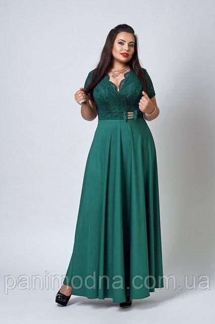 """Нарядное женское платье ботальные размеры - """"Диор"""" код 517"""