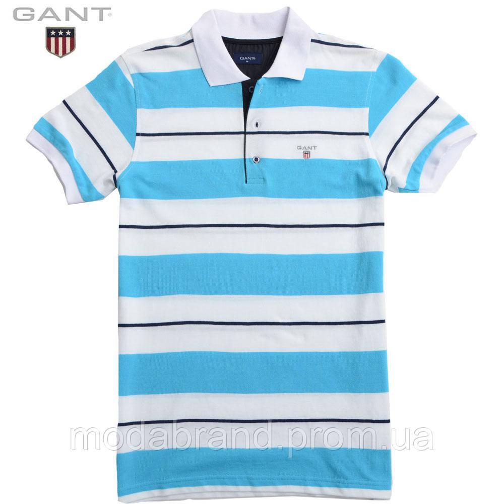 3ff7cde0e5305 Мужская футболка Gant поло в полоску. -