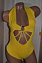 Купальник жіночий, суцільний, жовтого кольору. ТМ  KattyKo., фото 2