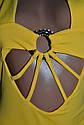 Купальник жіночий, суцільний, жовтого кольору. ТМ  KattyKo., фото 3