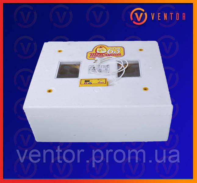 Автоматический инкубатор Теплуша 63 ИБА 12в тэн влагамер (база)