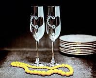 Набор свадебных бокалов для шампанского Bonita с гравировкой 190 мл х 2 шт (124)