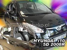 Дефлекторы окон (ветровики)  HYUNDAI i10 5d 2007-2013r (HEKO)