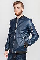 Мужская верхняя одежда, куртка классика экокожа 636K001 (Темно-синий)