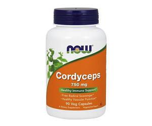 Имуностимулятор NOW Foods Cordyceps 750mg 90 caps