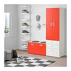 Шкаф со скамейкой IKEA STUVA / FRITIDS 150x50x192 см белый красный 892.530.51, фото 2