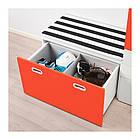 Шкаф со скамейкой IKEA STUVA / FRITIDS 150x50x192 см белый красный 892.530.51, фото 3