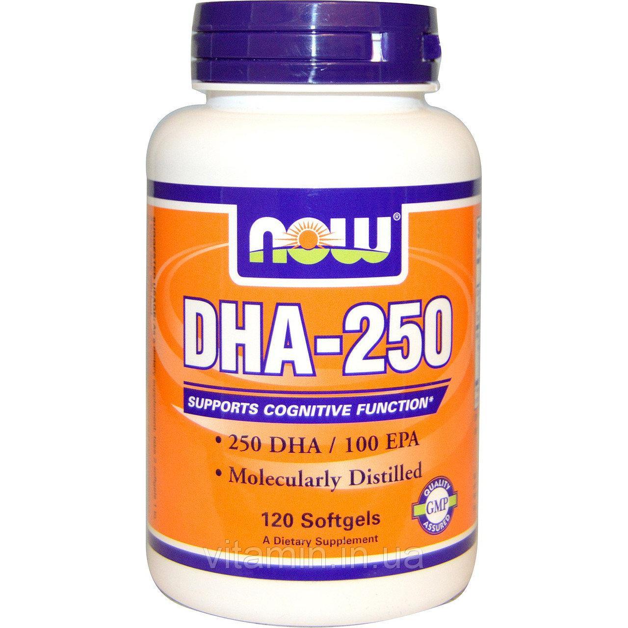 Концентрат рыбьего жира NOW Foods DHA - 250mg 120 softgels
