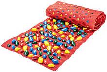 Масажний килимок з кольоровими каменями 200х40 см