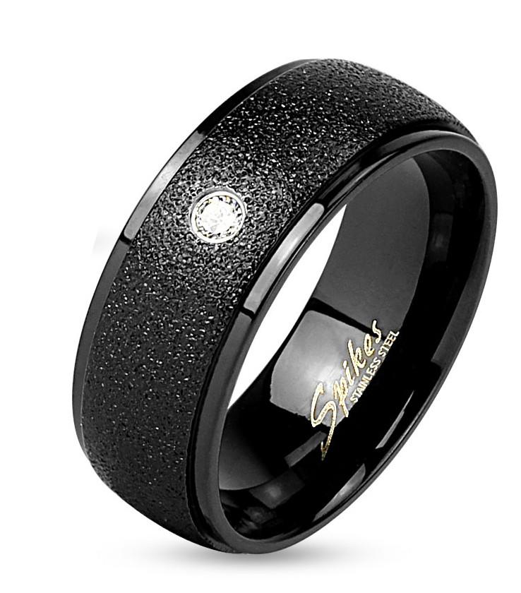 Женское кольцо из нержавеющей стали c фианитом Spikes 20,75