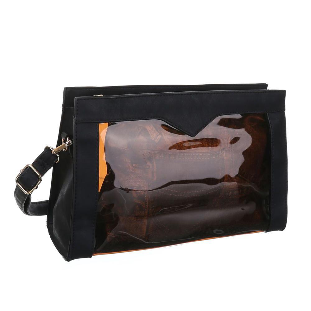 Прозрачная сумка с экокожей (Европа) Черный