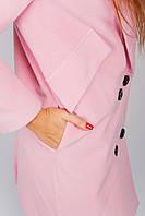 Пальто однотонное 662K002 (Розовый)