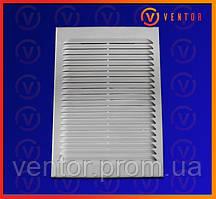 Вентиляционная решетка с двойным креплением и жалюзи, 155х155мм