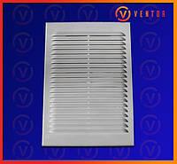 Вентиляционная решетка с двойным креплением, 255х185мм
