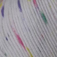 Пряжа Mondial Cotton Soft Белый меланж