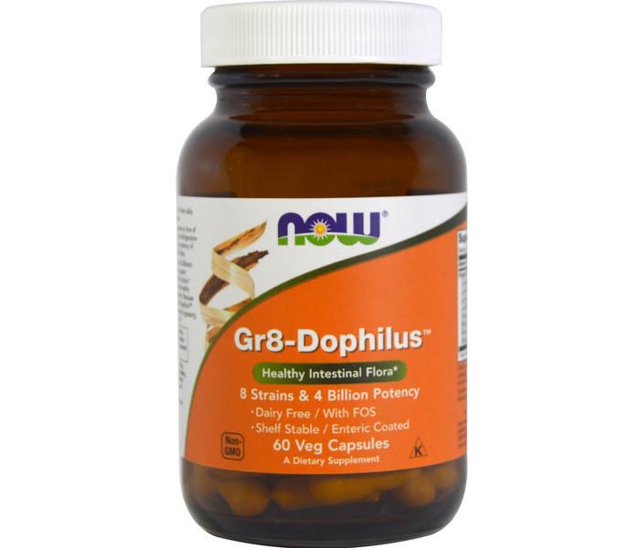 Пробиотики NOW Foods Gr-8 Dophilus 60 caps