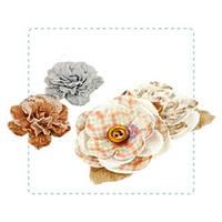 Цветы из ткани, фетра