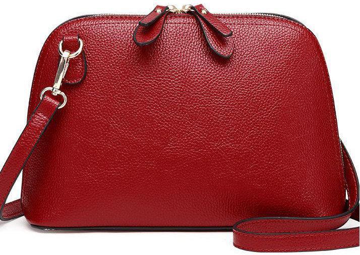 Жіноча сумочка в червоному кольорі. Стильна сумочка. Невелика сумочка через плече.
