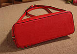 Жіноча сумочка в червоному кольорі. Стильна сумочка. Невелика сумочка через плече., фото 3