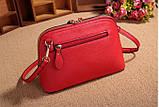 Жіноча сумочка в червоному кольорі. Стильна сумочка. Невелика сумочка через плече., фото 5