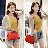 Жіноча сумочка в червоному кольорі. Стильна сумочка. Невелика сумочка через плече., фото 9