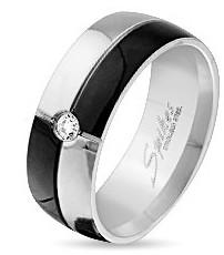 Кольцо из ювелирной стали для женщин двухцветное 316L Spikes (США)