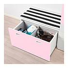 Шкаф со скамейкой IKEA STUVA / FRITIDS 150x50x192 см белый розовый 792.661.10, фото 2