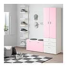 Шкаф со скамейкой IKEA STUVA / FRITIDS 150x50x192 см белый розовый 792.661.10, фото 3
