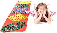 Массажный коврик с цветными камнями детский развивающий 200х40 см, фото 2
